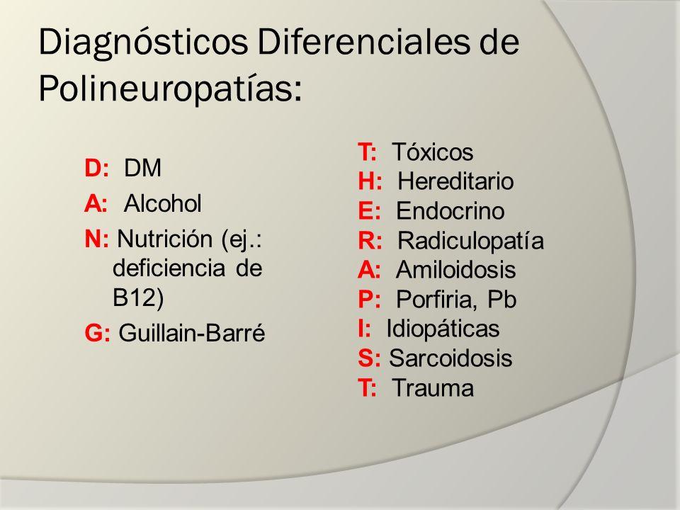 Diagnósticos Diferenciales de Polineuropatías: