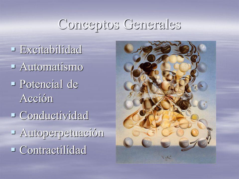 Conceptos Generales Excitabilidad Automatismo Potencial de Acción
