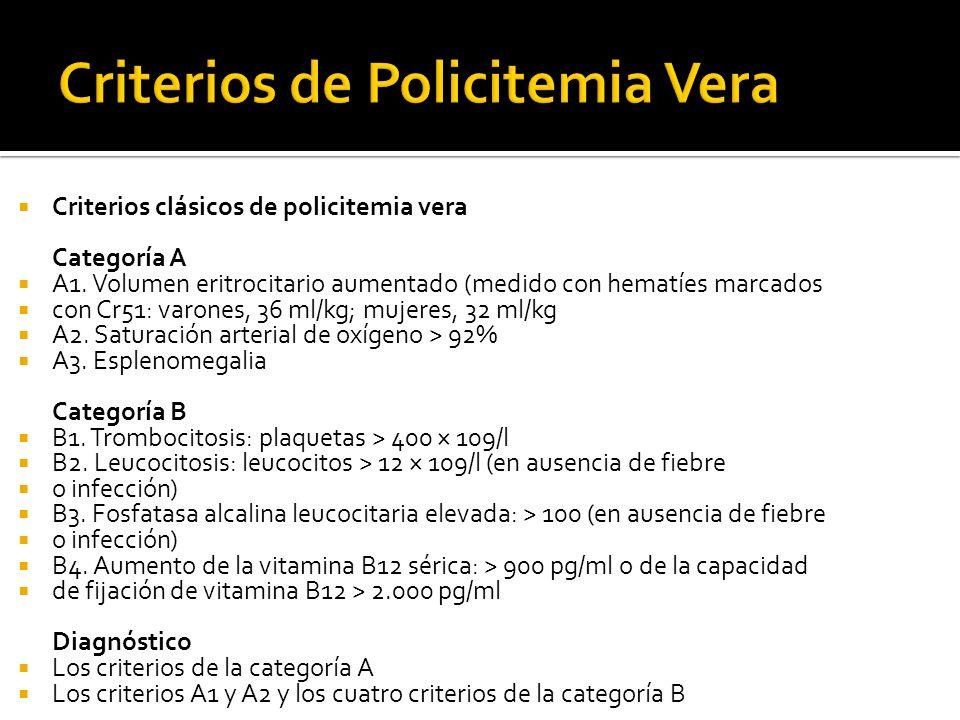 Criterios de Policitemia Vera