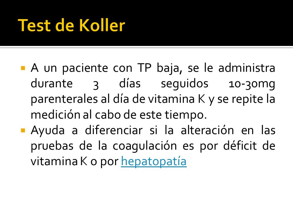 Test de Koller