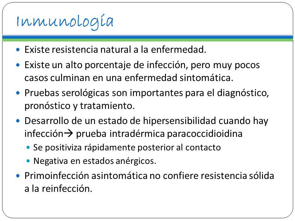 Inmunología Existe resistencia natural a la enfermedad.