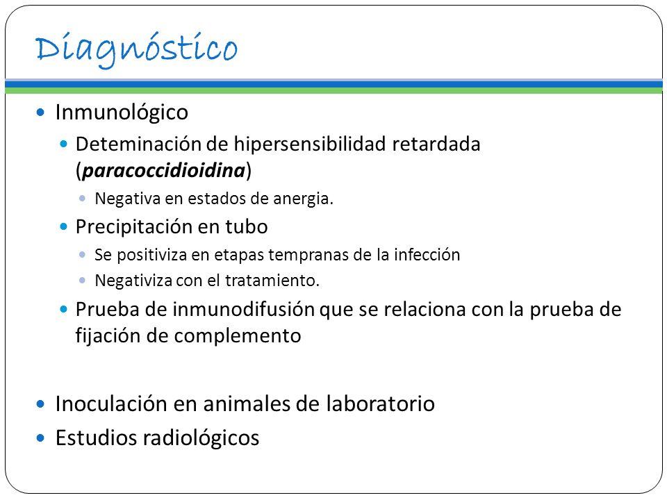 Diagnóstico Inmunológico Inoculación en animales de laboratorio