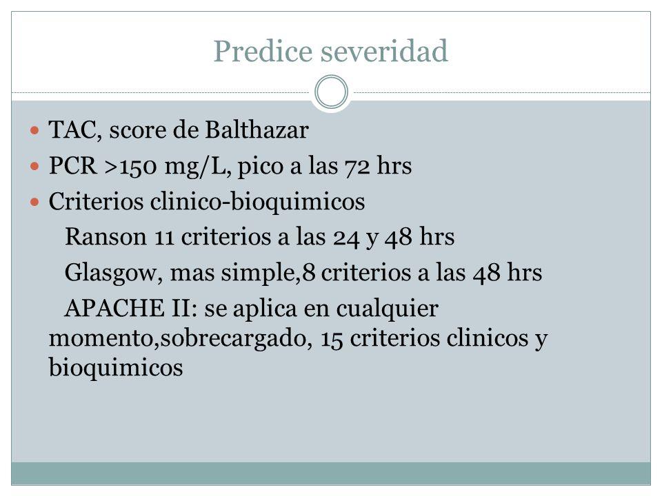 Predice severidad TAC, score de Balthazar