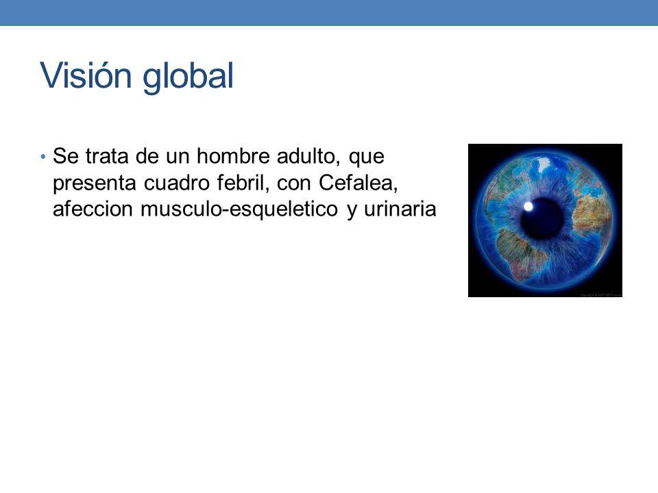 Visión global Se trata de un hombre adulto, que presenta cuadro febril, con Cefalea, afeccion musculo-esqueletico y urinaria.