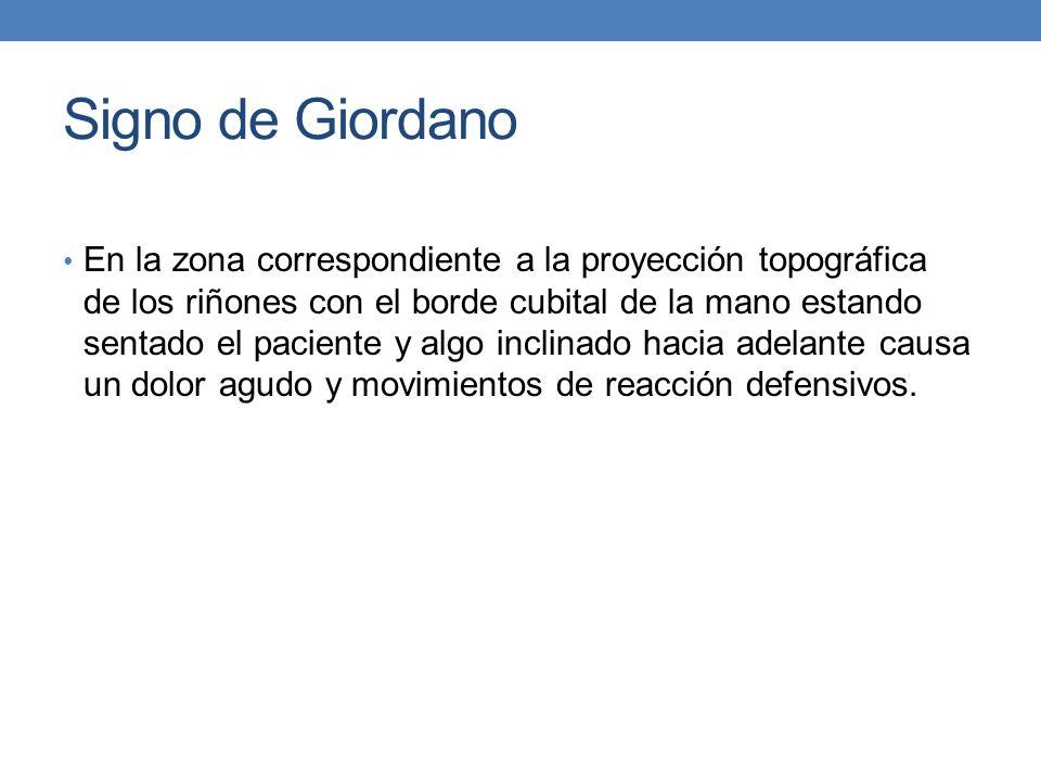 Signo de Giordano