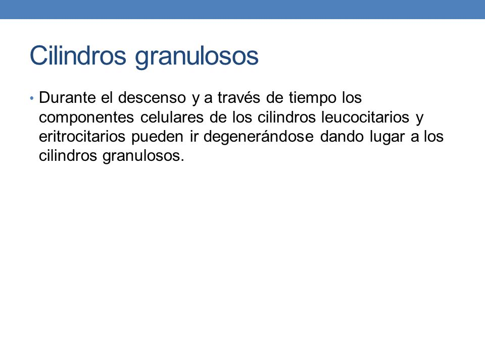 Cilindros granulosos