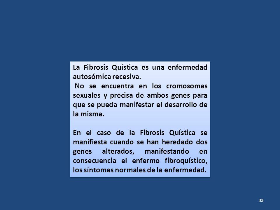 La Fibrosis Quística es una enfermedad autosómica recesiva.