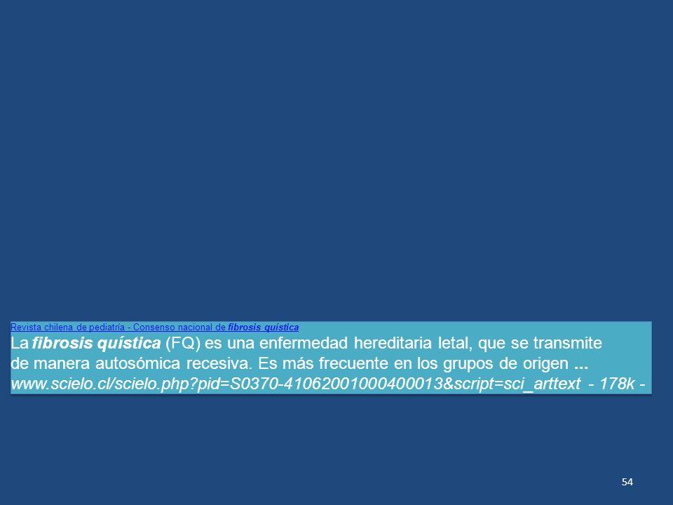 Revista chilena de pediatría - Consenso nacional de fibrosis quística