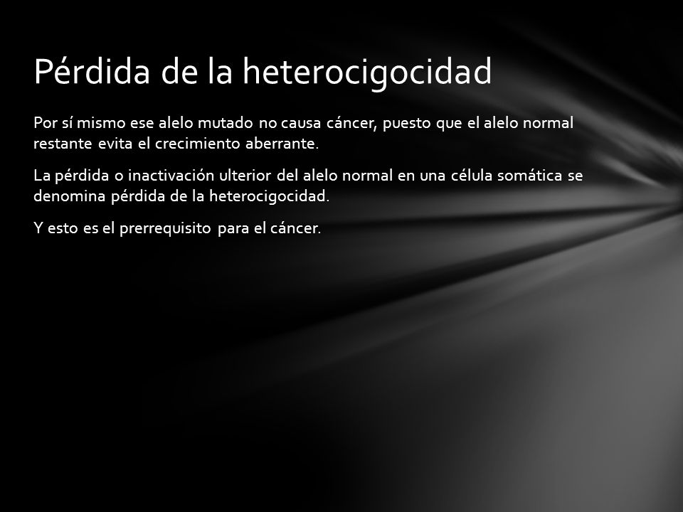 Pérdida de la heterocigocidad