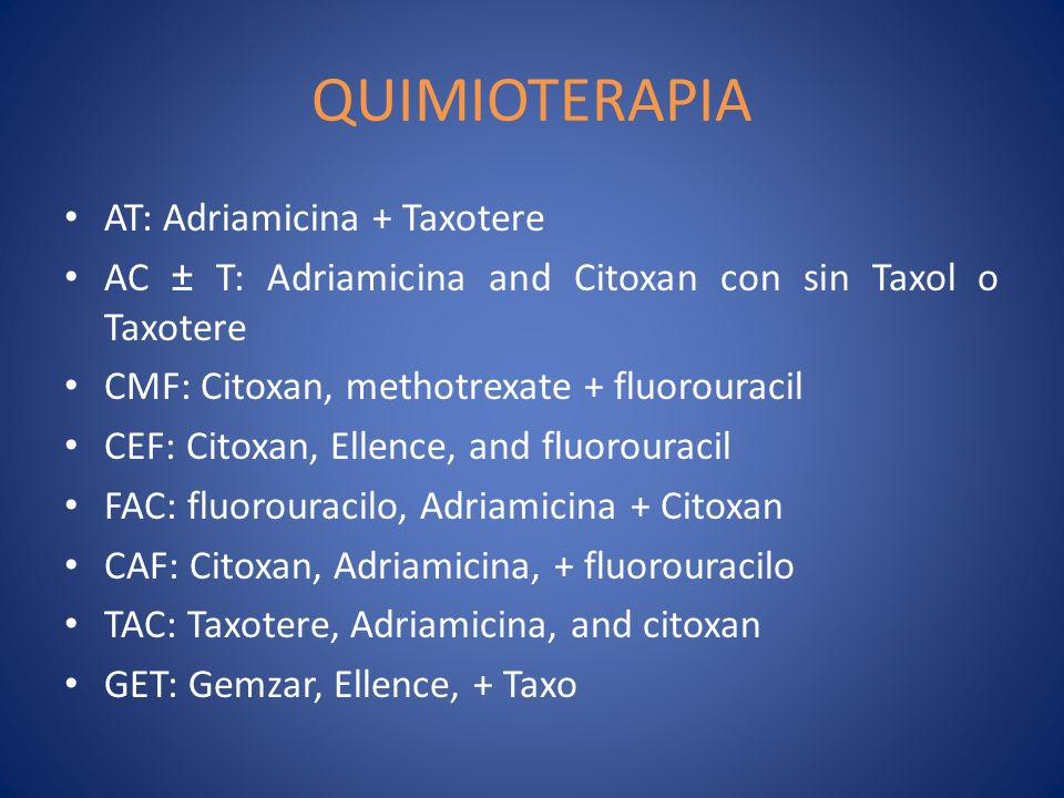 QUIMIOTERAPIA AT: Adriamicina + Taxotere