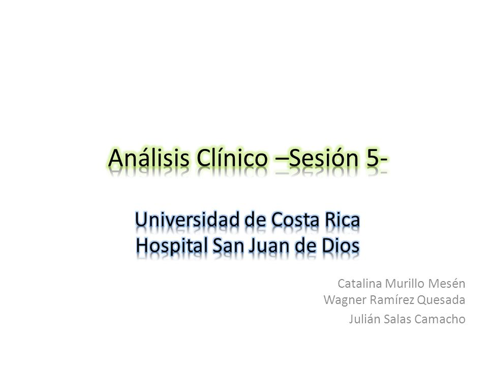 Catalina Murillo Mesén Wagner Ramírez Quesada Julián Salas Camacho
