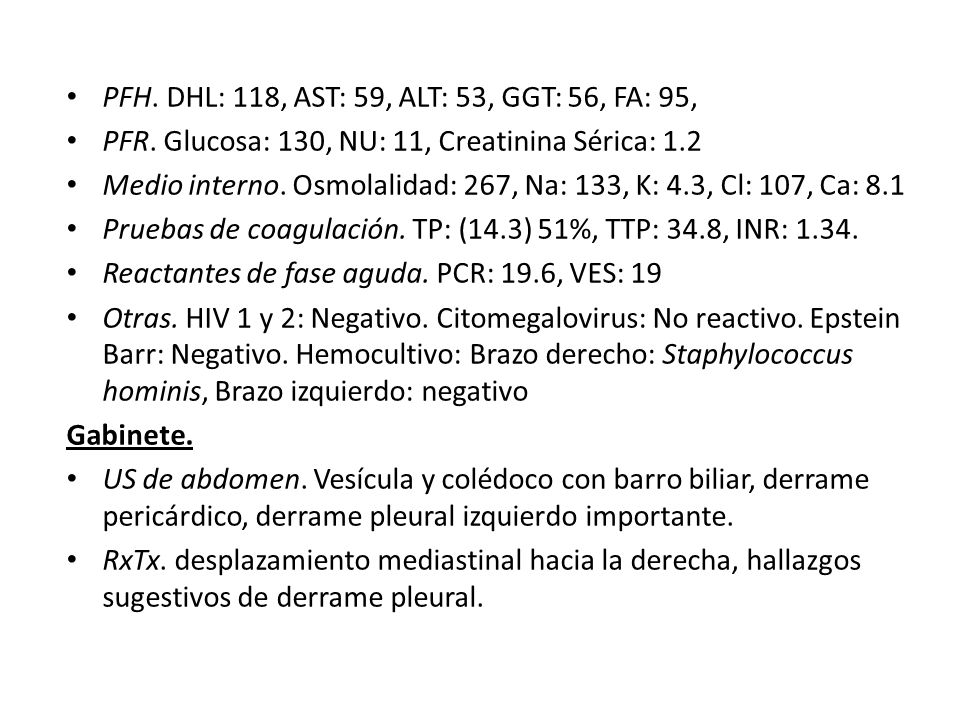 PFH. DHL: 118, AST: 59, ALT: 53, GGT: 56, FA: 95,