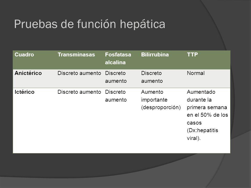 Pruebas de función hepática