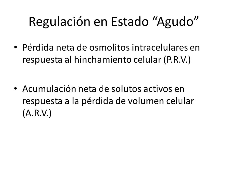 Regulación en Estado Agudo