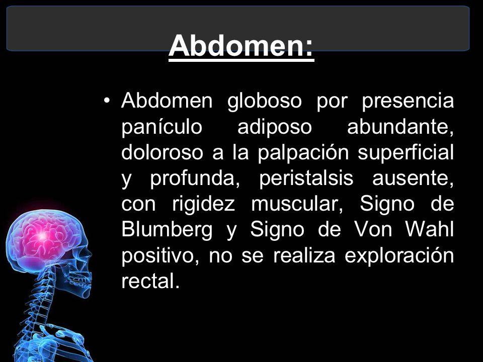 Abdomen: