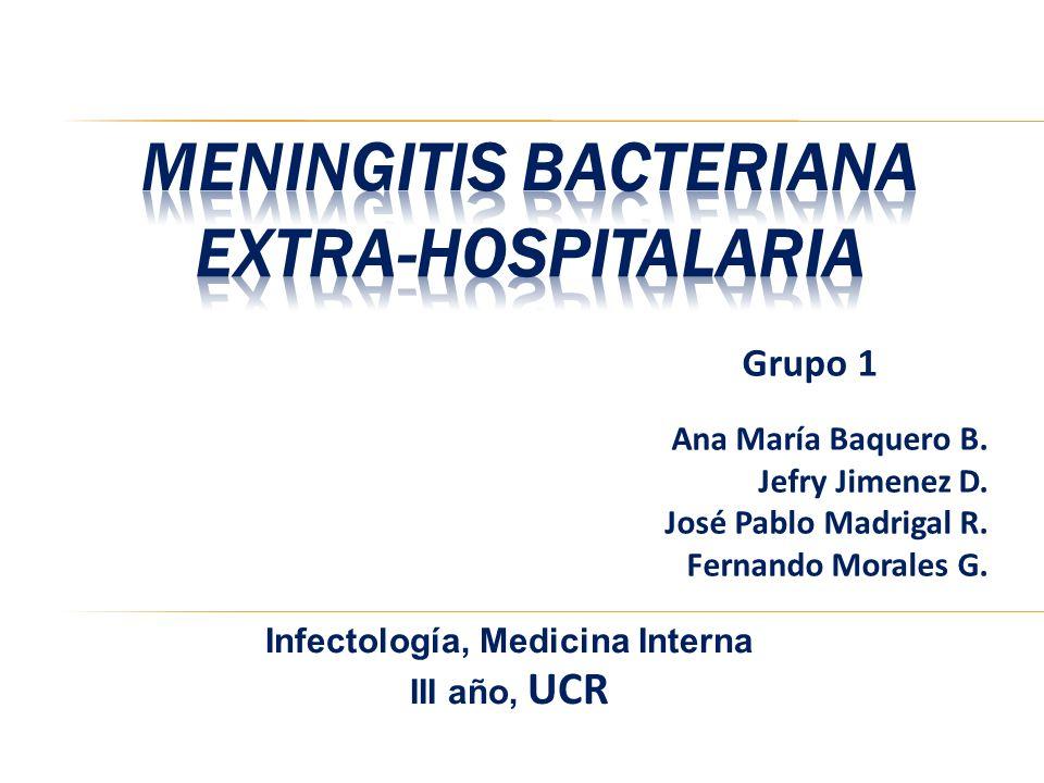 Meningitis Bacteriana Extra-hospitalaria