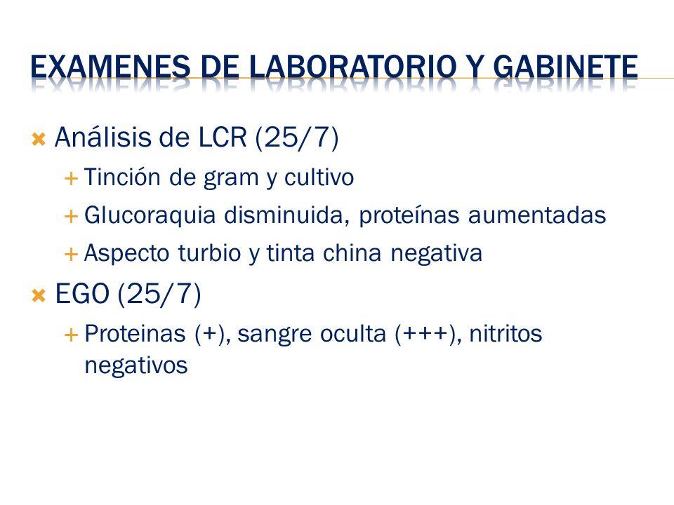 Examenes de Laboratorio y gabinete