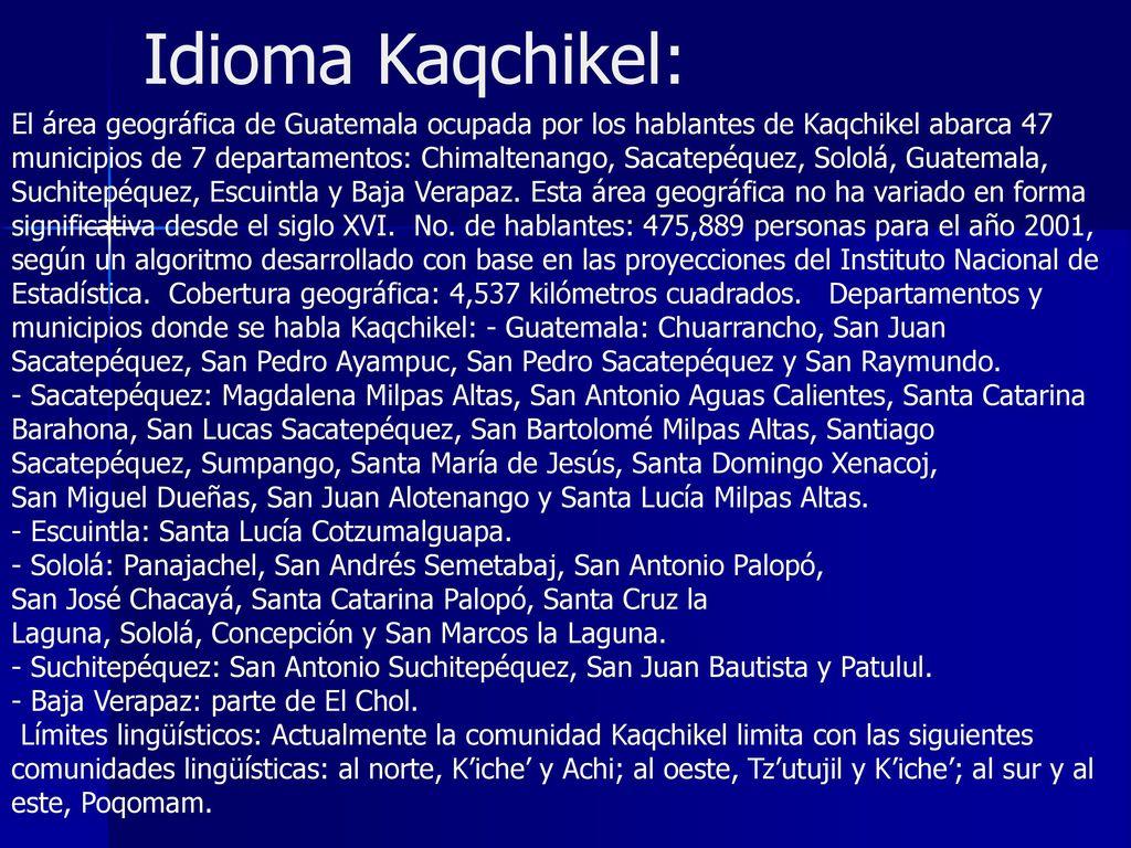 Mapa Ling Istico Meritos Cerrar K Iche Q Eqchi Kaqchikel Mam  # Muebles En Kaqchikel