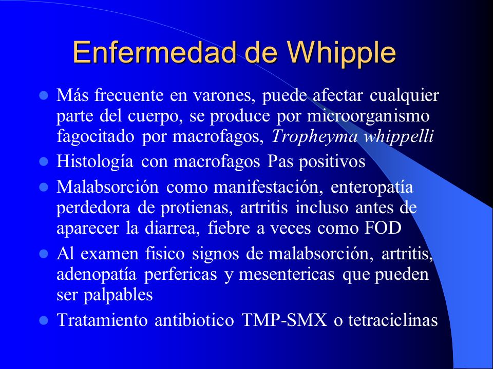 Enfermedad de Whipple
