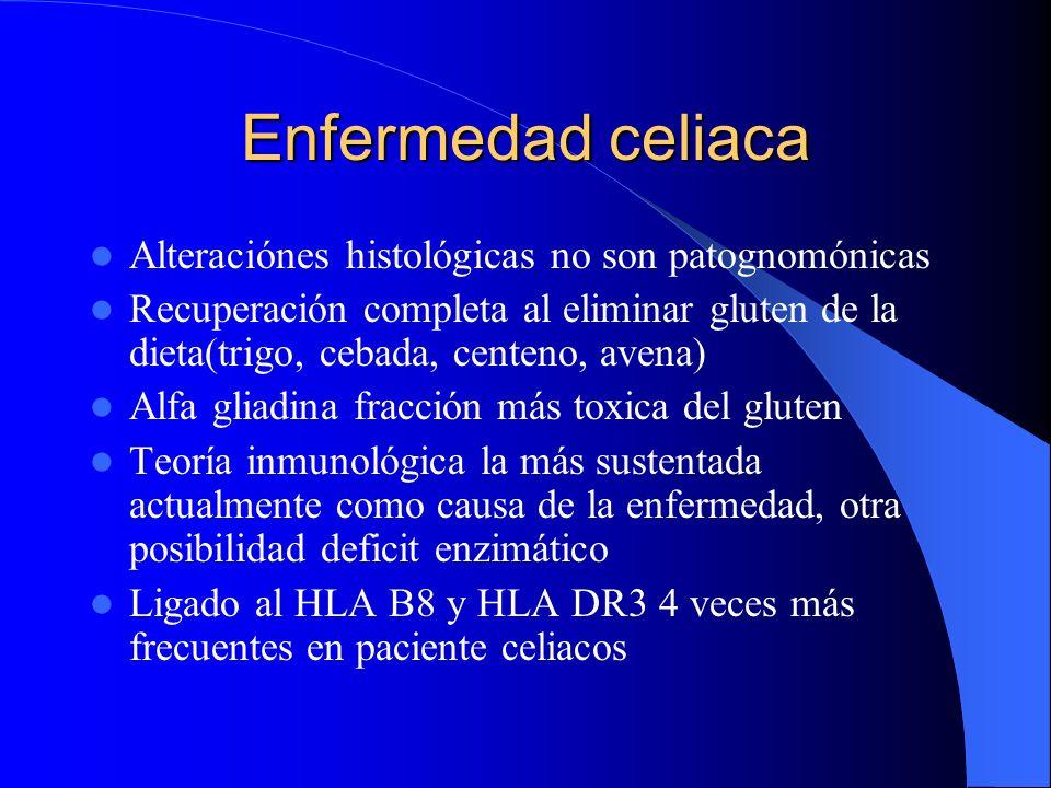 Enfermedad celiaca Alteraciónes histológicas no son patognomónicas