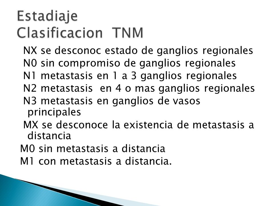 Estadiaje Clasificacion TNM