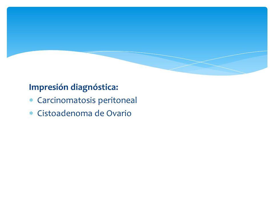Impresión diagnóstica: