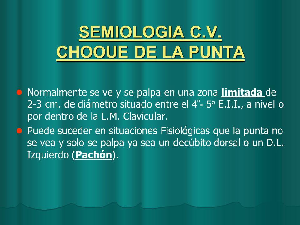 SEMIOLOGIA C.V. CHOOUE DE LA PUNTA