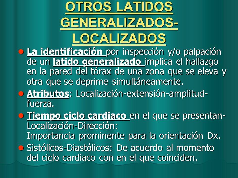 OTROS LATIDOS GENERALIZADOS- LOCALIZADOS