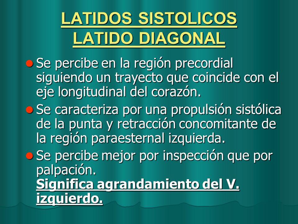 LATIDOS SISTOLICOS LATIDO DIAGONAL