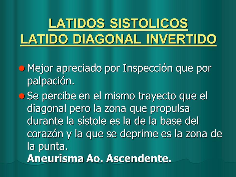 LATIDOS SISTOLICOS LATIDO DIAGONAL INVERTIDO
