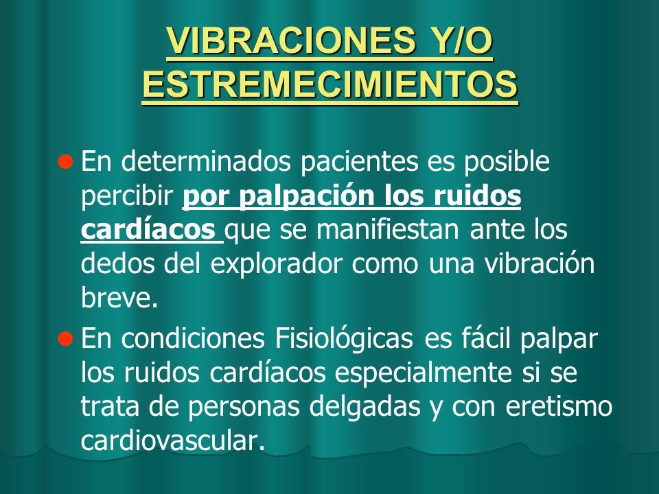 VIBRACIONES Y/O ESTREMECIMIENTOS