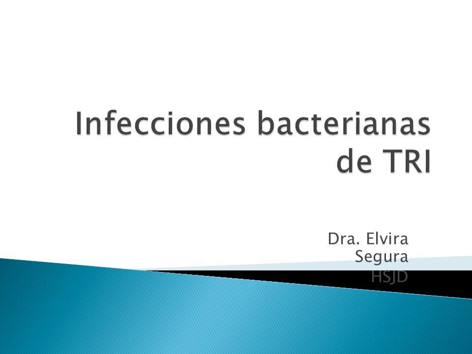 Infecciones bacterianas de TRI