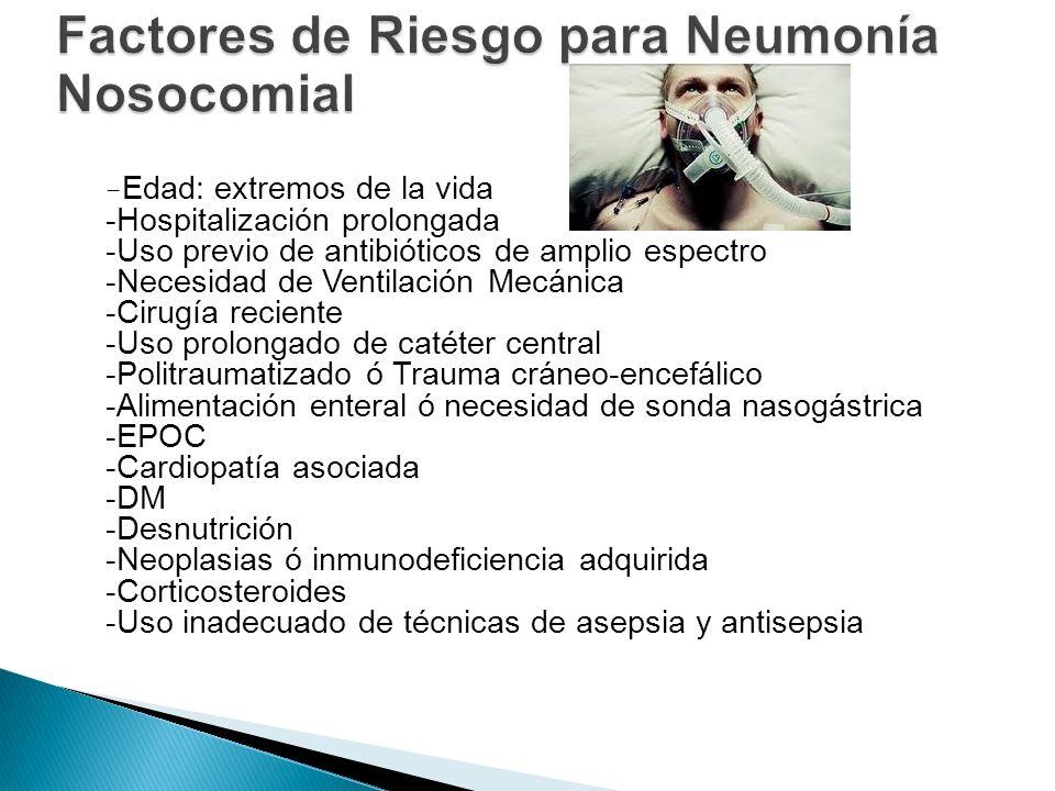 Factores de Riesgo para Neumonía Nosocomial