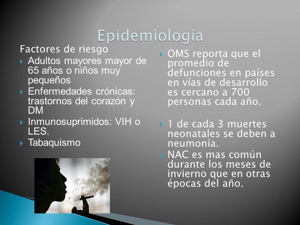 Epidemiologia Factores de riesgo