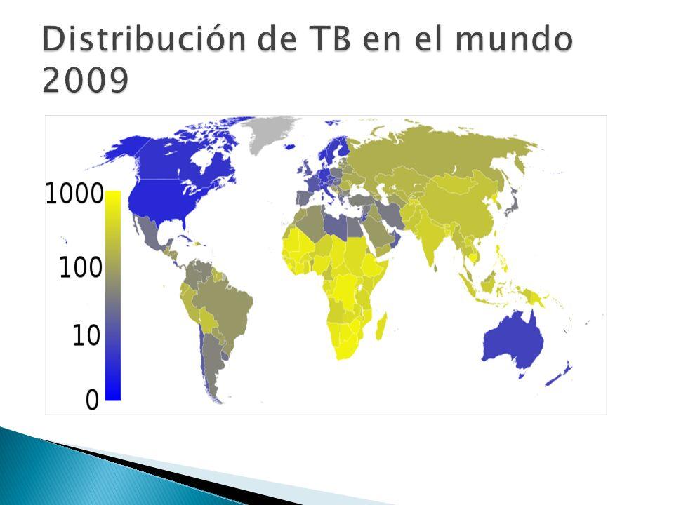 Distribución de TB en el mundo 2009
