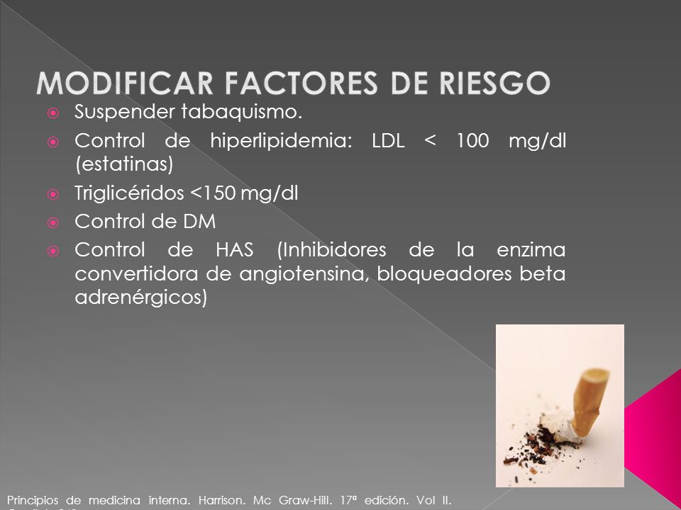 Modificar factores de riesgo