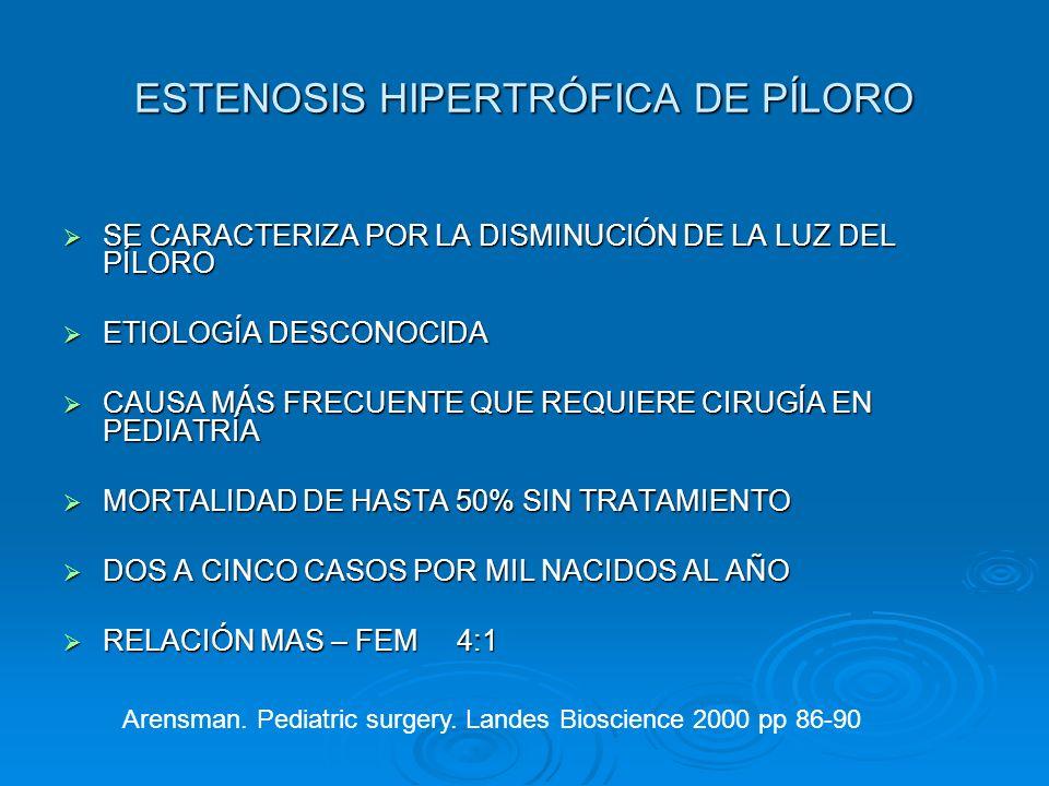 ESTENOSIS HIPERTRÓFICA DE PÍLORO