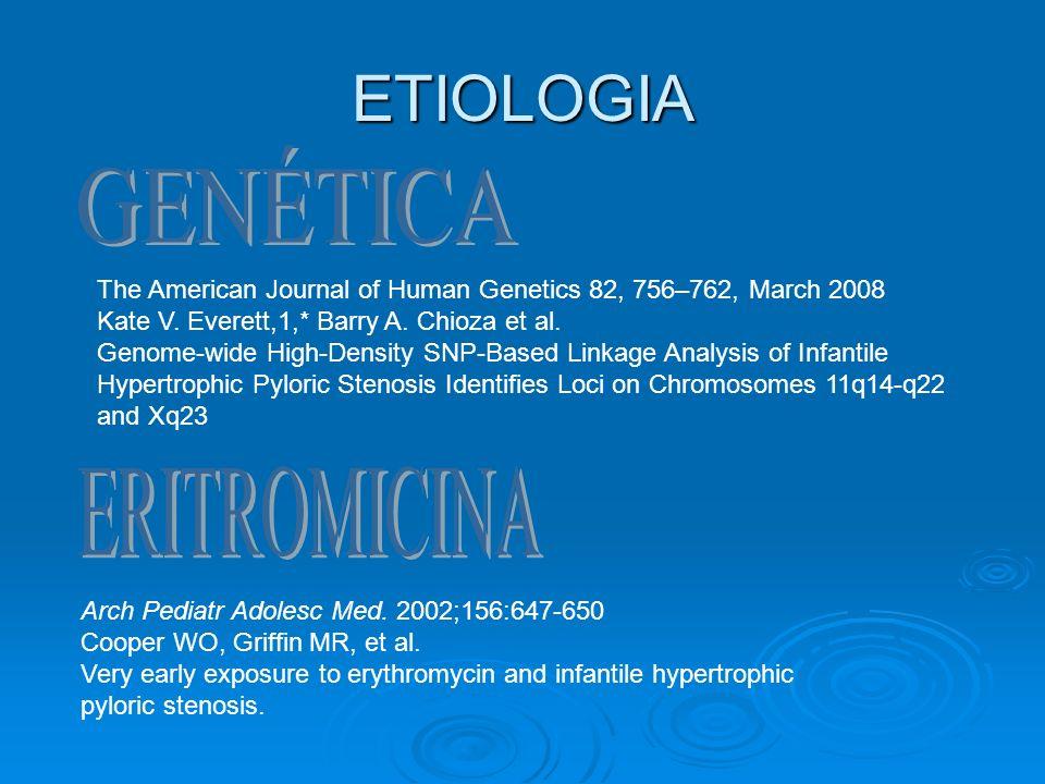 ETIOLOGIA GENÉTICA ERITROMICINA