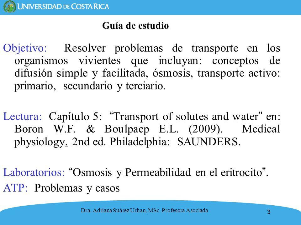 Laboratorios: Osmosis y Permeabilidad en el eritrocito .