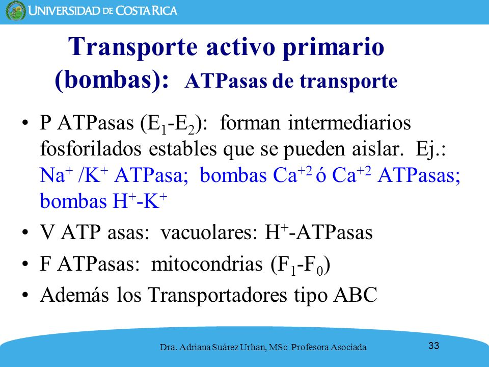 Transporte activo primario (bombas): ATPasas de transporte