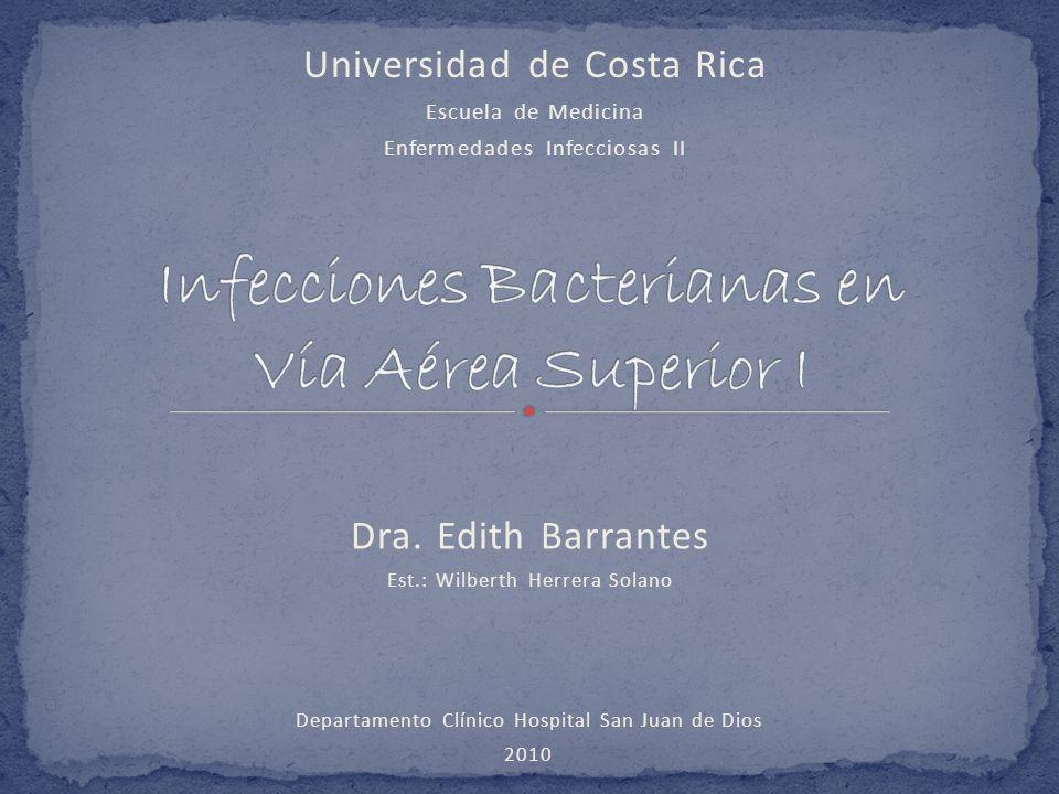 Infecciones Bacterianas en Vía Aérea Superior I