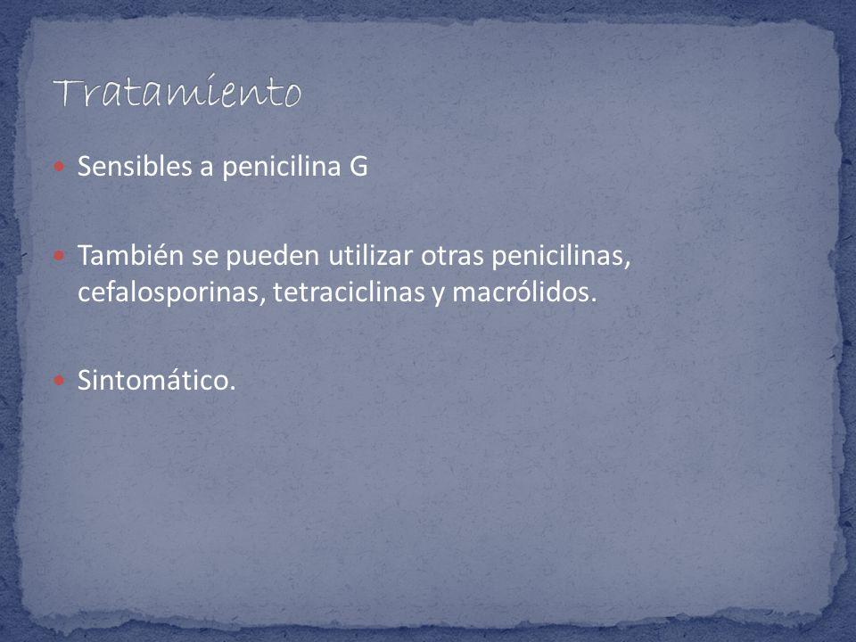 Tratamiento Sensibles a penicilina G