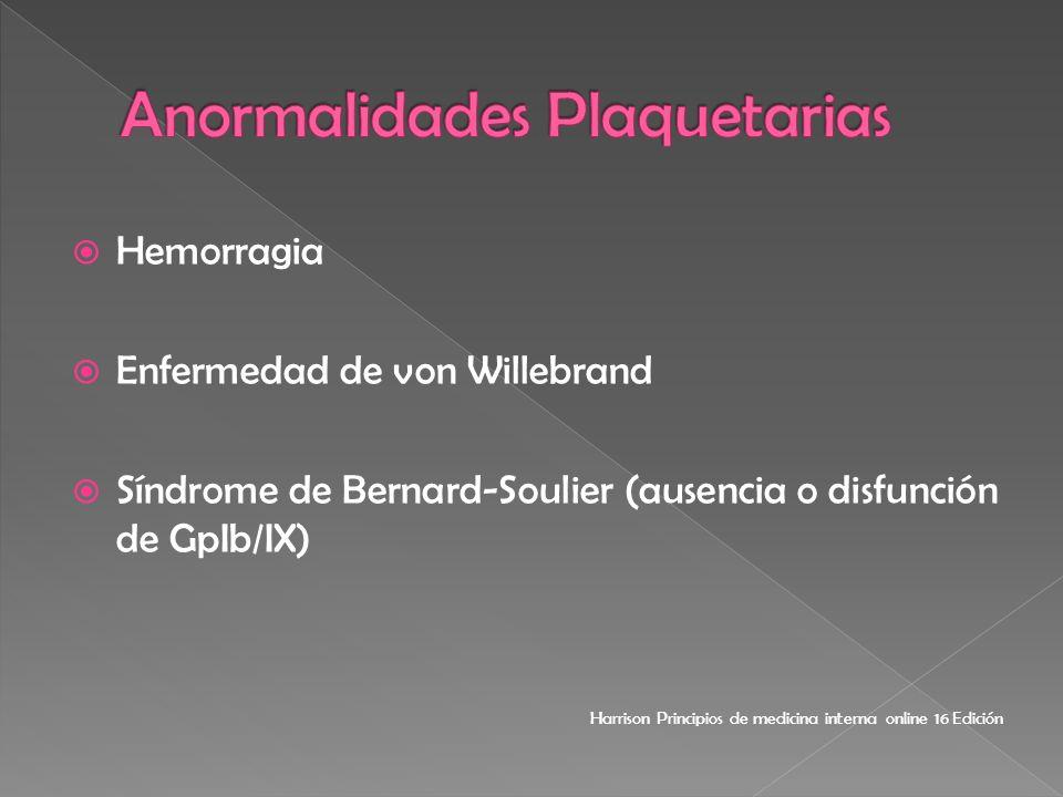 Anormalidades Plaquetarias