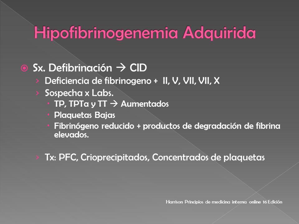 Hipofibrinogenemia Adquirida