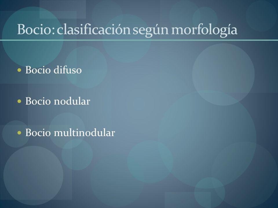 Bocio: clasificación según morfología