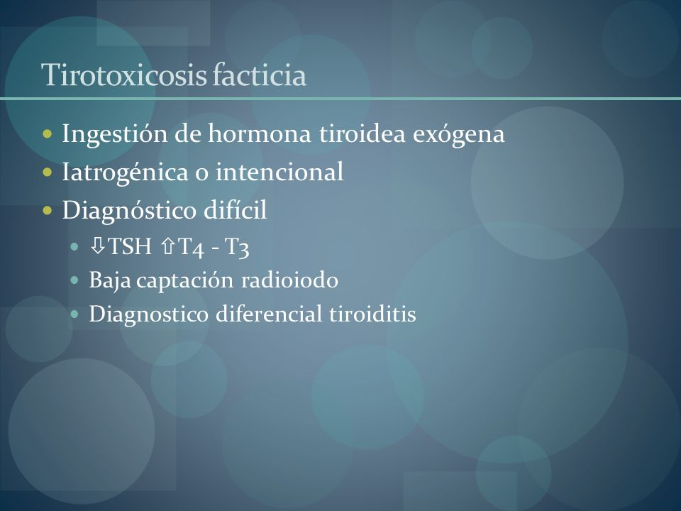 Tirotoxicosis facticia