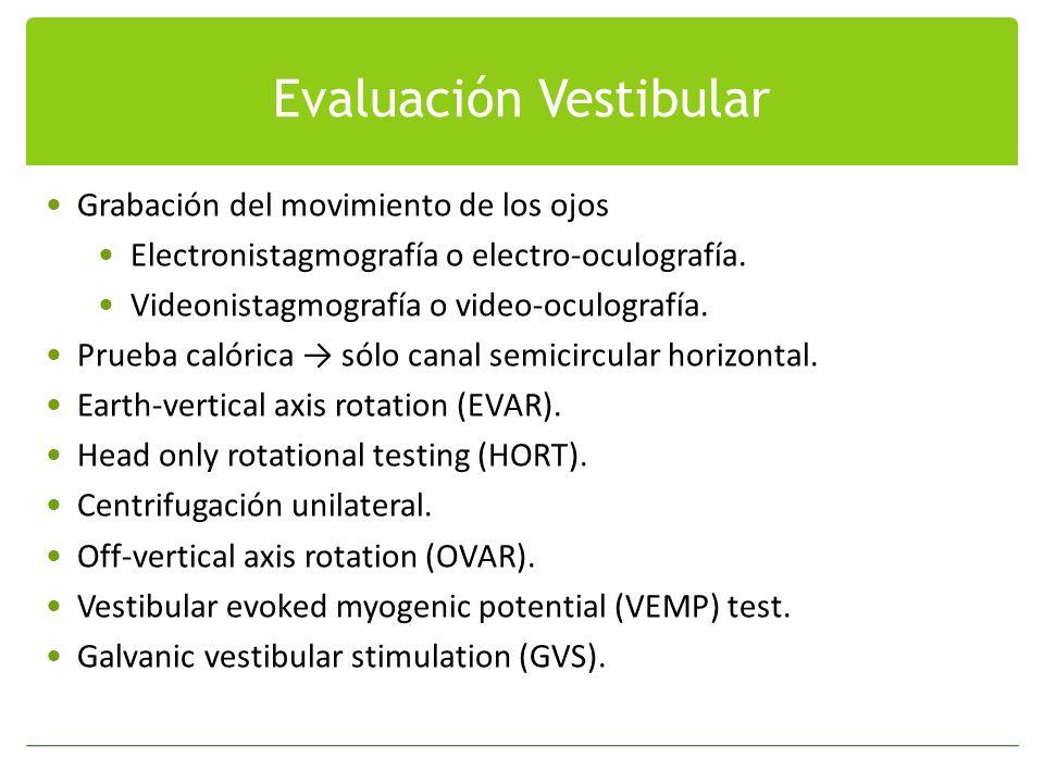 Evaluación Vestibular