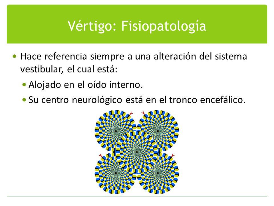 Vértigo: Fisiopatología
