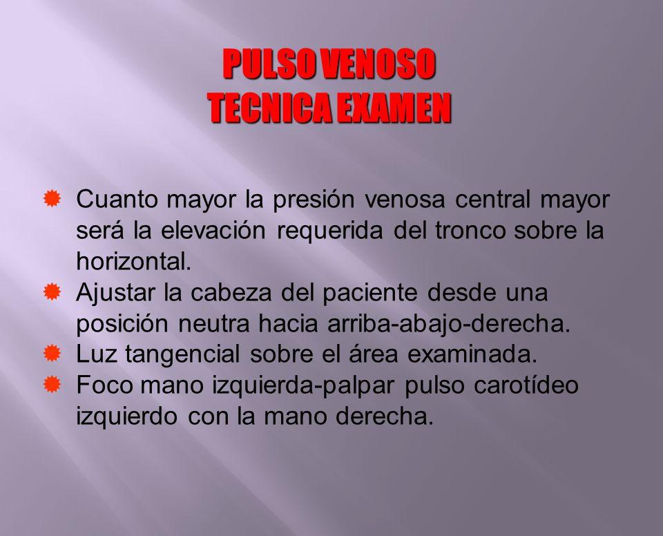 PULSO VENOSO TECNICA EXAMEN