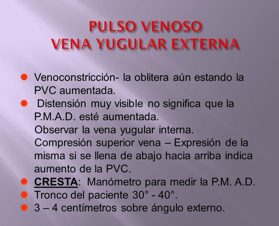 PULSO VENOSO VENA YUGULAR EXTERNA